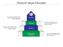 Personal Values Education Ppt Powerpoint Presentation Ideas Rules Cpb
