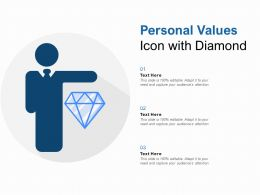 personal values icon with diamond