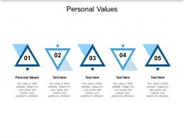 Personal Values Ppt Powerpoint Presentation Pictures Cpb