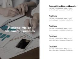 Personal Vision Statement Examples Ppt Powerpoint Presentation Model Good Cpb