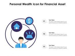 Personal Wealth Icon For Financial Asset