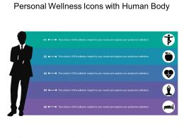 Personal Wellness Icons With Human Body