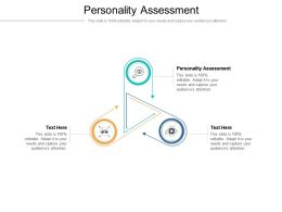 Personality Assessment Ppt Powerpoint Presentation Professional Graphics Tutorials Cpb