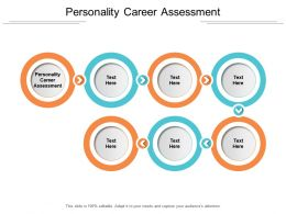 Personality Career Assessment Ppt Powerpoint Presentation Ideas Cpb