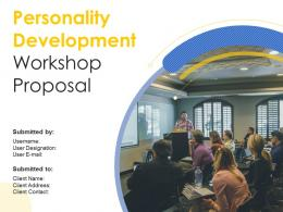 Personality Development Workshop Proposal Powerpoint Presentation Slides