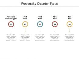 Personality Disorder Types Ppt Powerpoint Presentation Styles Design Inspiration Cpb