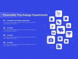 Personality Psychology Experiments Ppt Powerpoint Presentation Summary Influencers