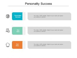 Personality Success Ppt Powerpoint Presentation Slides Gallery Cpb