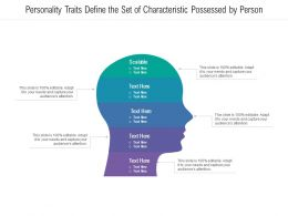 Personality Traits Define The Set Of Characteristic Possessed By Person