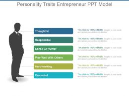 Personality Traits Entrepreneur Ppt Model