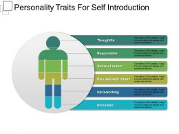 Personality Traits For Self Introduction Presentation Slides