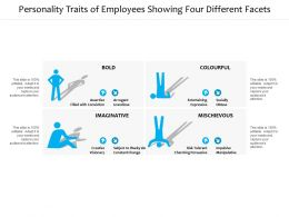 Personality Traits Of Employees Showing Four Different Facets