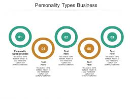 Personality Types Business Ppt Powerpoint Presentation Pictures Template Cpb
