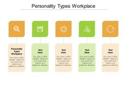 Personality Types Workplace Ppt Powerpoint Presentation Layouts Example Introduction Cpb