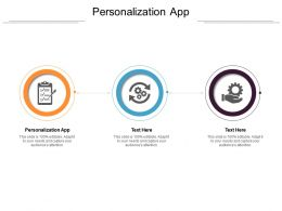 Personalization App Ppt Powerpoint Presentation Outline Backgrounds Cpb