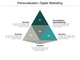 Personalization Digital Marketing Ppt Powerpoint Presentation Infographic Template Slides Cpb