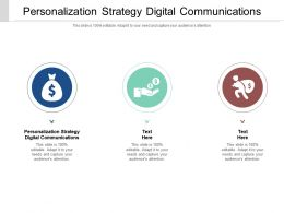 Personalization Strategy Digital Communications Ppt Powerpoint Presentation Outline Cpb