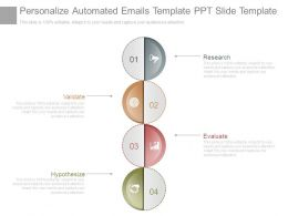 Personalize Automated Emails Template Ppt Slide Template