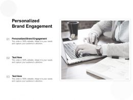 Personalized Brand Engagement Ppt Powerpoint Presentation Model Grid Cpb