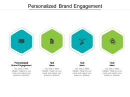 Personalized Brand Engagement Ppt Powerpoint Presentation Pictures Professional Cpb