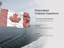 Personalized Customer Experience Ppt Powerpoint Presentation File Files Cpb