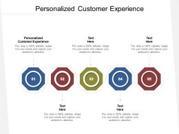 Personalized Customer Experience Ppt Powerpoint Presentation Ideas Maker Cpb