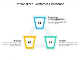 Personalized Customer Experience Ppt Powerpoint Presentation Layouts Microsoft Cpb