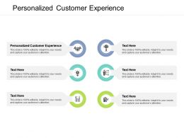 Personalized Customer Experience Ppt Powerpoint Presentation Show Ideas Cpb