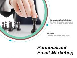 Personalized Email Marketing Ppt Powerpoint Presentation Gallery Design Templates Cpb