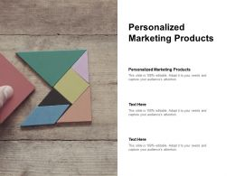 Personalized Marketing Products Ppt Powerpoint Presentation Pictures Backgrounds Cpb