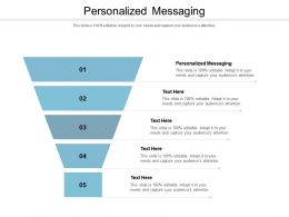 Personalized Messaging Ppt Powerpoint Presentation Summary Deck Cpb
