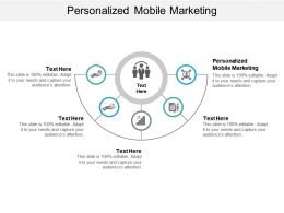 Personalized Mobile Marketing Ppt Powerpoint Presentation Styles Background Image Cpb