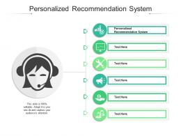 Personalized Recommendation System Ppt Powerpoint Presentation Inspiration Examples Cpb