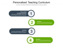 Personalized Teaching Curriculum Ppt Powerpoint Presentation Styles Layout Cpb