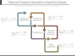 Personas Problems Alternatives Powerpoint Shapes