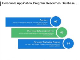 Personnel Application Program Resources Database Employee Database Approach