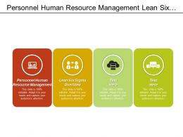 Personnel Human Resource Management Lean Six Sigma Overview Cpb