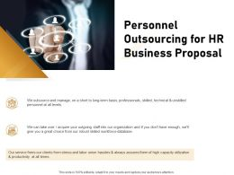 Personnel Outsourcing For HR Business Proposal Ppt Powerpoint Presentation Pictures Slideshow