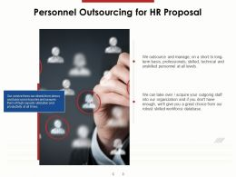 Personnel Outsourcing For HR Proposal Ppt Powerpoint Presentation Inspiration Visual Aids