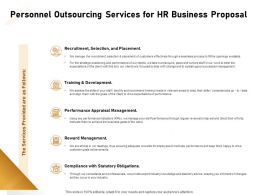 Personnel Outsourcing Services For HR Business Proposal Ppt Powerpoint Presentation Show Outline