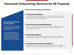 Personnel Outsourcing Services For HR Proposal Ppt Powerpoint Presentation Infographics Icons