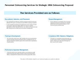 Personnel Outsourcing Services For Strategic HRM Outsourcing Proposal Ppt Icon