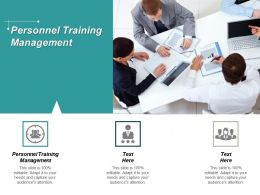 Personnel Training Management Ppt Powerpoint Presentation Professional Slides Cpb