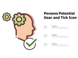 Persons Potential Gear And Tick Icon