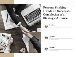 Persons Shaking Hands On Successful Completion Of A Strategic Alliance