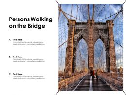 Persons Walking On The Bridge