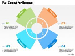 Pest Concept For Business Flat Powerpoint Design