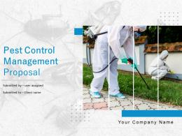 Pest Control Management Proposal Powerpoint Presentation Slides