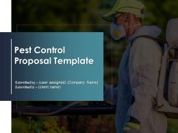 Pest Control Proposal Template Powerpoint Presentation Slides