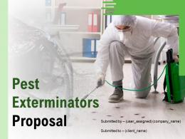 Pest Exterminators Proposal Powerpoint Presentation Slides